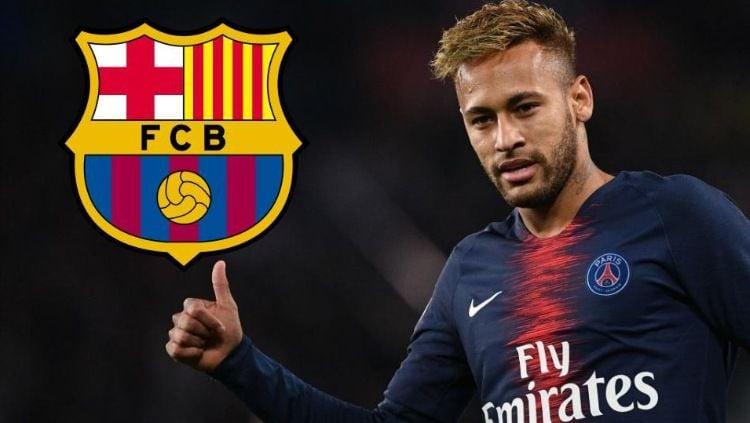 Neymar dikabarkan tidak betah di Paris Saint-Germain dan ingin kembali ke Barcelona di bursa transfer musim panas 2019. (Foto: talksport.com) Copyright: © talksport.com