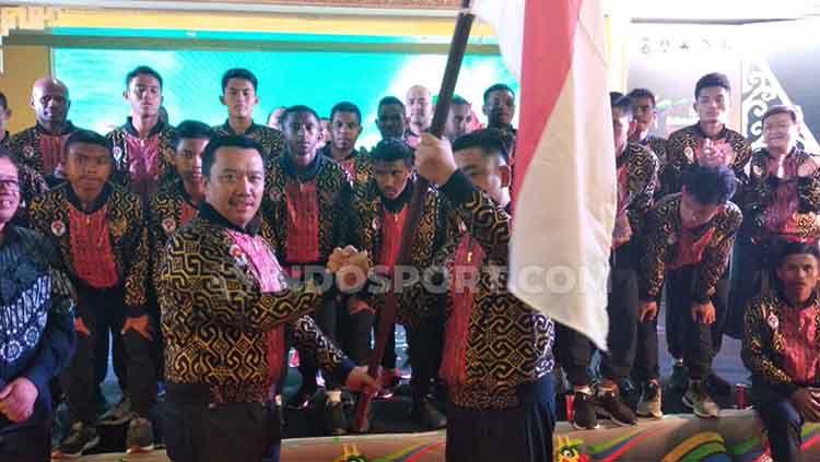 Menteri Pemuda dan Olahraga (Menpora) Imam Nahrawi janjikan akan membrikan hadiah jika Indonesia berhasil meraih juara umum di ASEAN Schools Games 2019. Copyright: © Zainal Hasan/INDOSPORT