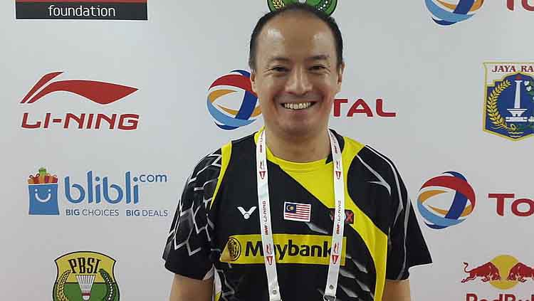 Ini maksud Hendrawan membandingkan dengan salah satu legenda tunggal putra Malaysia, Daren Liew yang akan bertanding di turnamen bulutangkis internal BAM. Copyright: © badmintonplanet.com