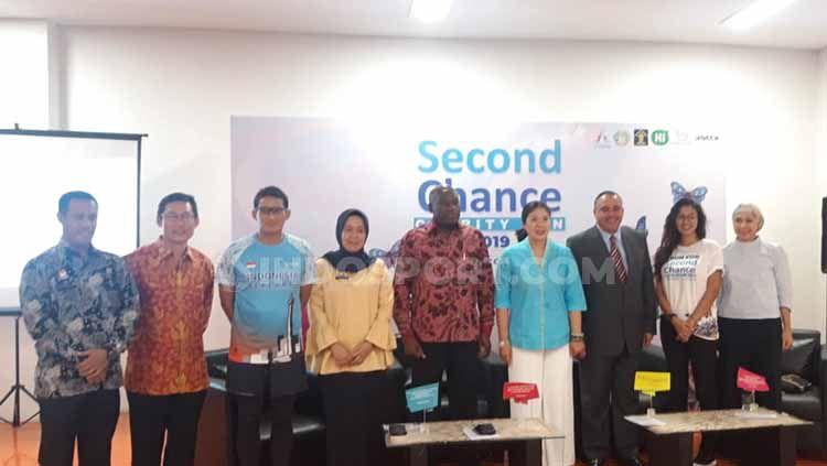 Konferensi Pers Second Chance Charity Run 2019 di SCBD Jakarta, Selasa (02/07/19). Copyright: © Maharani Adhyarianti/INDOSPORT