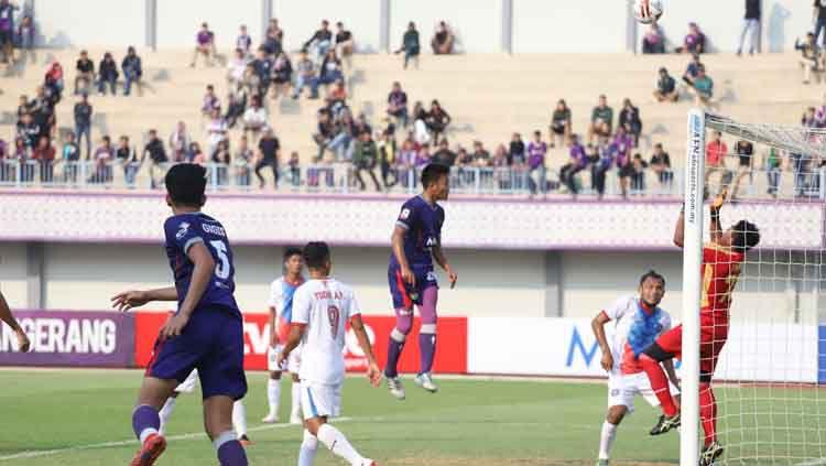 Situasi pertandingan Selebrasi Persita Tangera vs PSPS Copyright: © Media Persita