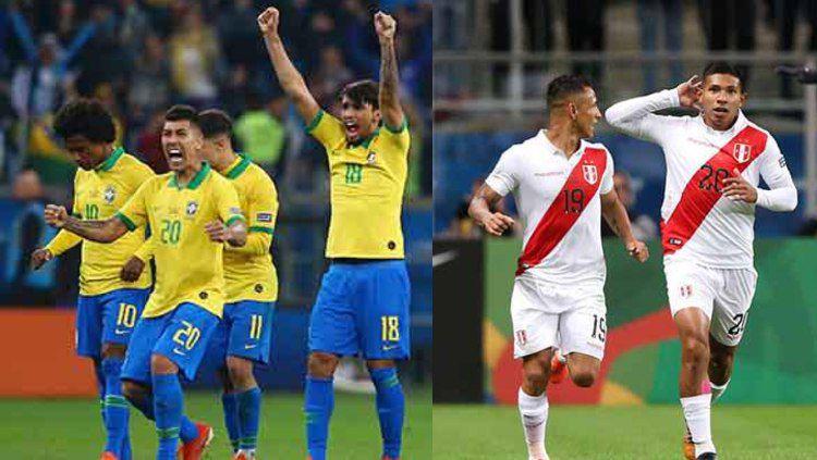 Kombinasi Starting XI di Final Copa America 2019 Brasil vs Peru Copyright: © Lucas Uebel/Alexandre Schneider/Getty Images