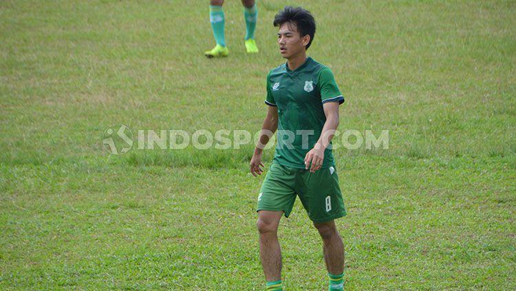 Pemain muda PSMS Medan, Muhammad Iqbal. Copyright: © Aldi Aulia Anwar/INDOSPORT