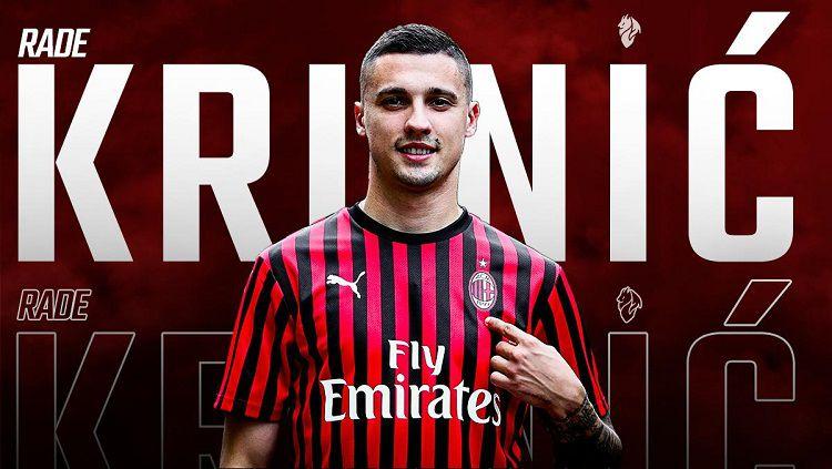 Rade Krunic, rekrutan anyar AC Milan. Copyright: © Twitter @acmilan