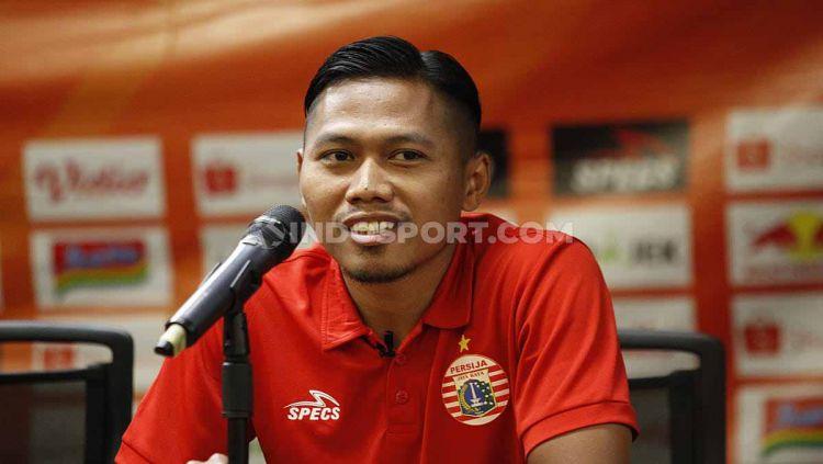 Pemain serba bisa Persija Jakarta, Tony Sucipto menegaskan siap membawa tim memenangkan tujuh laga sisa Liga 1 2019. Copyright: © Herry Ibrahim/INDOSPORT