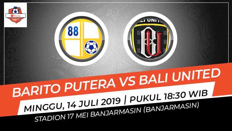 Pertandingan Barito Putera vs Bali United. Grafis: Indosport.com Copyright: © Grafis: Indosport.com