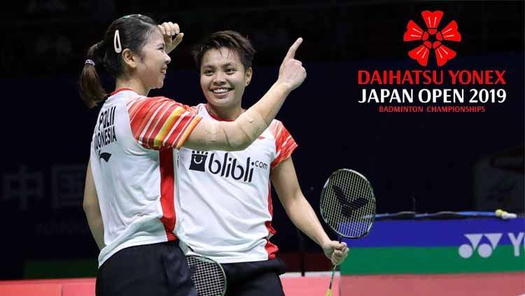 Greysia Polii dan Apriyani Rahayu, Daihatsu Yonex Japan Open 2019. Foto: badmintonindonesia.org Copyright: © badmintonindonesia.org