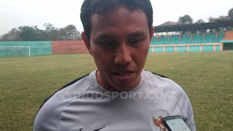 Pelatih Timnas Indonesia U-16, Bima Sakti menyatakan skuatnya kini sudah memiliki fondasi kuat jelang Piala AFF U-16 2019. Copyright: © Zainal Hasan/INDOSPORT