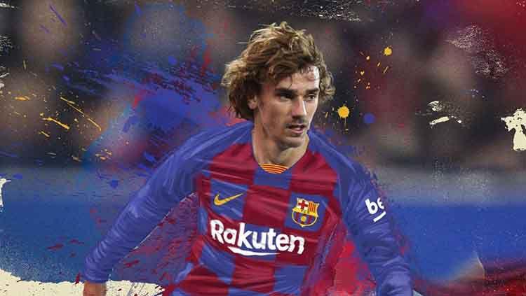 Antoine Griezmann akan menggunakan nomor punggung tujuh di Barcelona. Copyright: © fcbarcelon