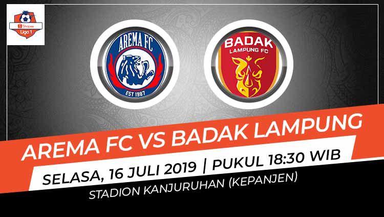 Pertandingan Arema FC vs Badak Lampung. Copyright: © Grafis: Indosport.com