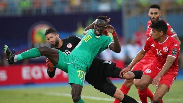 Sadio Mane bawa Senegal ke final Piala Afrika 2019 setelah mengalahkan Tunisia di semifinal Copyright: © dbsportsonline