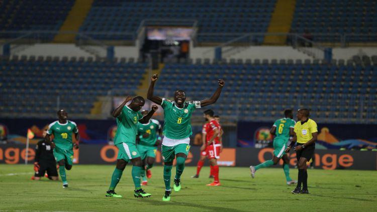 Senegal lolos ke final Piala Afrika 2019 setelah mengalahkan Tunisia di semifinal (15/07/19) Copyright: © Twitter/@CAF_Online