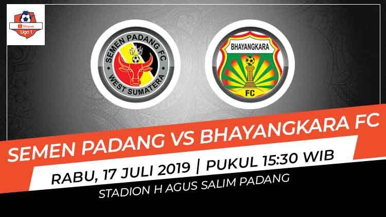 Bhayangkara FC meraih kemenangan 3-2 atas tuan rumah Semen Padang pada pekan ke-9 Shopee Liga 1 2019, Rabu (17/07/19), di Stadion H. Agus Salim, Padang. Copyright: © INDOSPORT