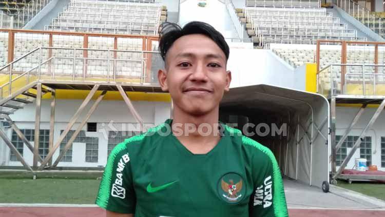 Gelandang tim sepak bola Persib Bandung, Beckham Putra Nugraha, memiliki cita-cita memperkuat Timnas Indonesia U-20 pada Piala Dunia U-20. Copyright: © Shintya Anya Maharani/INDOSPORT