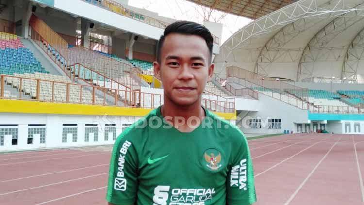 Pemain Timnas Indonesia U-19, Mochammad Supriadi mengalami cedera jelang laga uji coba penting. Copyright: © Shintya Anya Maharani/INDOSPORT