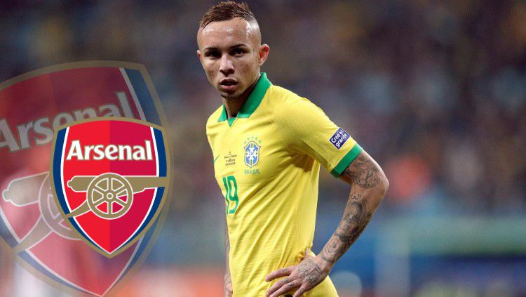 Winger muda Timnas Brasil, Everton Sousa Soares, akan merapat ke Arsenal? Copyright: © Daily Post Nigeria