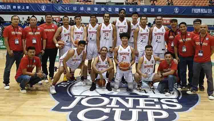 Timnas Putra Indonesia kalah di laga kedua William Jones Cup 2019. Copyright: © mainbasket