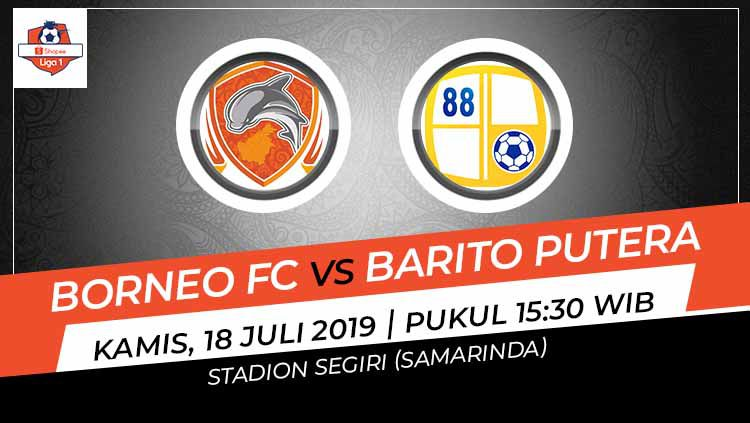 Indosport - Pertandingan Borneo FC vs Barito Putera.