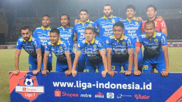 Starting eleven Persib Bandung menghadapi Kalteng Putra dilaga kandang Shopee Liga 1 2019 di Stadion Si Jalak Harupat, Kabupaten Bandung, Selasa (16/07/2019). Foto: Arif Rahman/INDOSPORT Copyright: © Arif Rahman/INDOSPORT