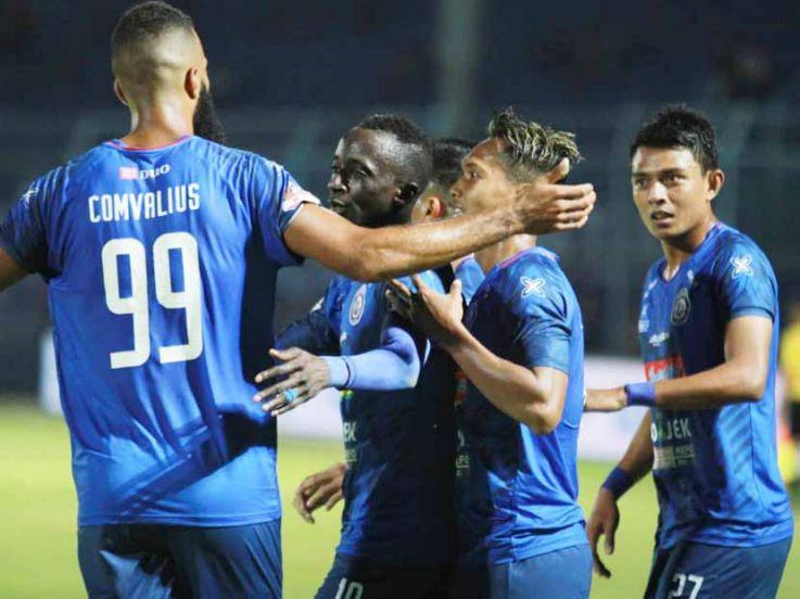 Hasil Pertandingan Liga 1 2019 Arema vs Perseru Badak Lampung: Makan Konate Hattrick