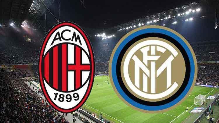 Logo AC Milan dan Inter Milan. Copyright: © 101Greatgoals