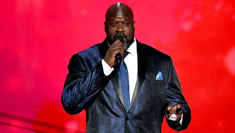 Shaquille O'neal dalam acara NBA Awards 2019. Copyright: © Kevin Winter/Getty Images for Turner Sports