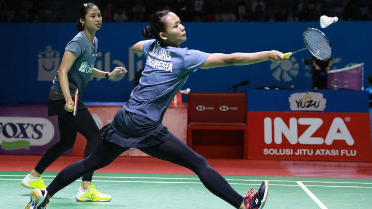 Della Destiara Haris/Rizki Amelia Pradipta berhasil melaju ke perempatfinal Vietnam Open 2019. Copyright: © Humas PP PBSI