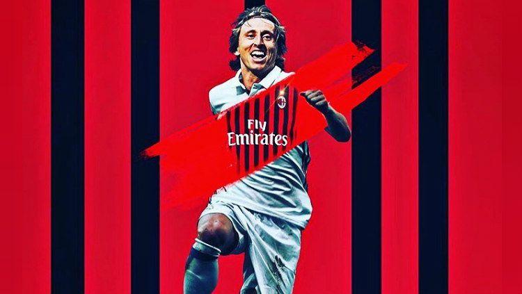 Luka Modric diisukan bakal gabung AC Milan Copyright: © https://www.instagram.com/irish_madridista/