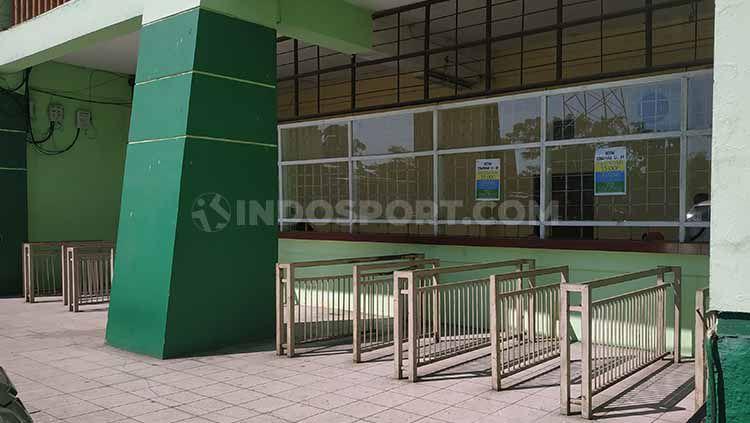 Madura United dipastikan harus mencari venue lain dalam lanjutan kompetisi Liga 1 nanti, setelah pihak pengelola Stadion Gelora Delta Sidoarjo tak memberi izin. Copyright: © Fitra Herdian/INDOSPORT