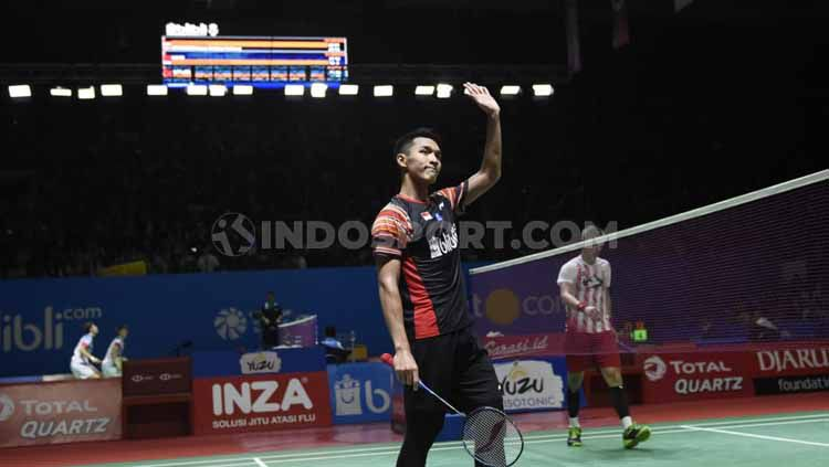 Tunggal putra Indonesia, Jonatan Christie. Foto: Herry Ibrahim/INDOSPORT Copyright: © Herry Ibrahim/INDOSPORT