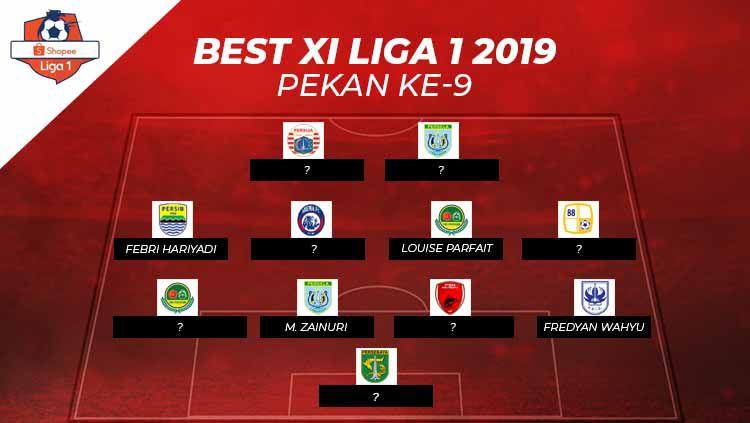 Starting Terbaik Liga 1 2019 pekan ke-9. Copyright: © Grafis: Eli Suhaeli/INDOSPORT