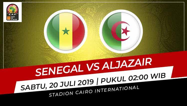 Pertandingan Senegal vs Aljazair. Copyright: © Grafis: Indosport.com