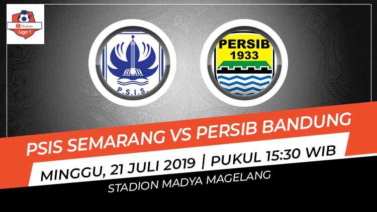Pertandingan PSIS Semarang vs Persib Bandung. Copyright: © Grafis: Indosport.com