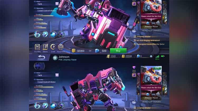 750 Gambar Hero Johnson Mobile Legends Terbaru