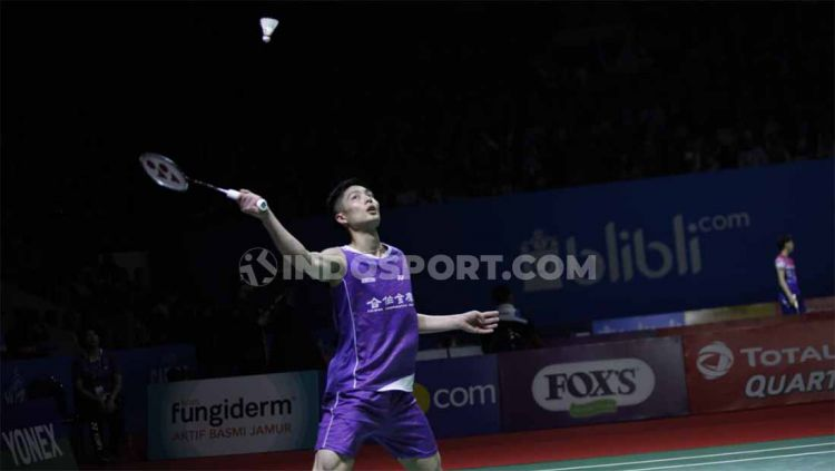 Aksi Chou Tien Chendi Indonesia Open 2019. Copyright: © Petrus Manus Da'Yerimon/INDOSPORT