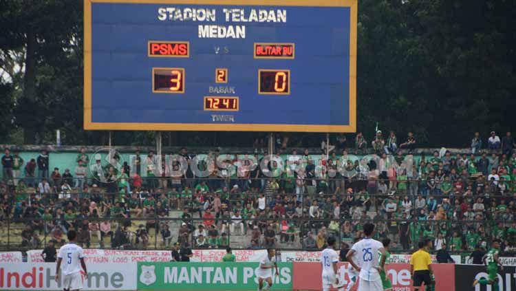 Pertandingan PSMS Medan melawan Blitar United di Stadion Teladan, Medan, Jumat (19-07-19) sore.jpg Copyright: © Aldi Aulia Anwar/INDOSPORT
