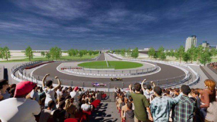 Vietnam resmi akan menjadi tuan rumah ajang Formula 1 pada April 2020 yang akan diselenggarakan di Sirkuit Hanoi. Venue tersebut memiliki kompleks pit megah. Copyright: © ESPN