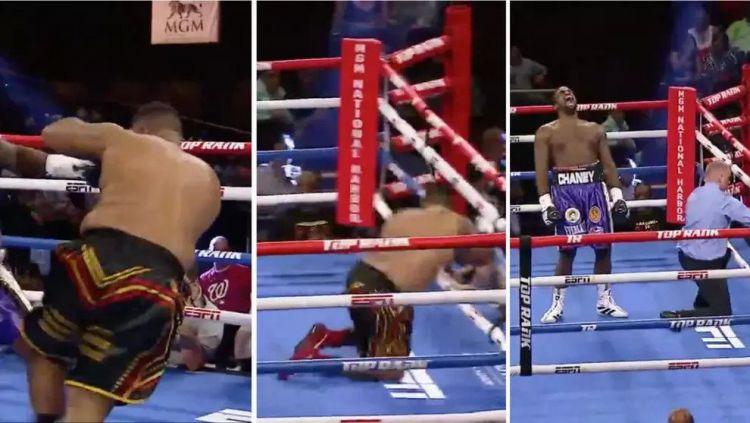 Seperti di Game, Petinju Ini Terlempar dari Ring Usai Dipukul Lawannya Copyright: © Sports Illustrated