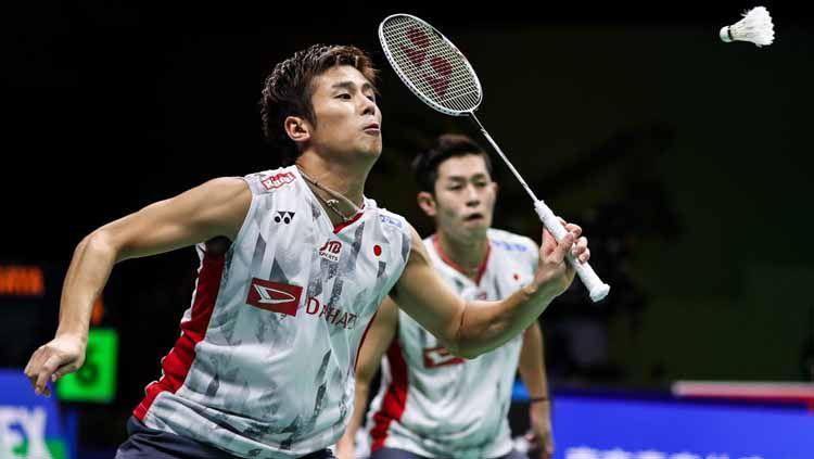 Pasangan bulutangkkis Jepang, Takuro Hoki/Yugo Kobayashi ciptakan sejarah di ranking dunia BWF. Copyright: © BWF — Badminton World Federation