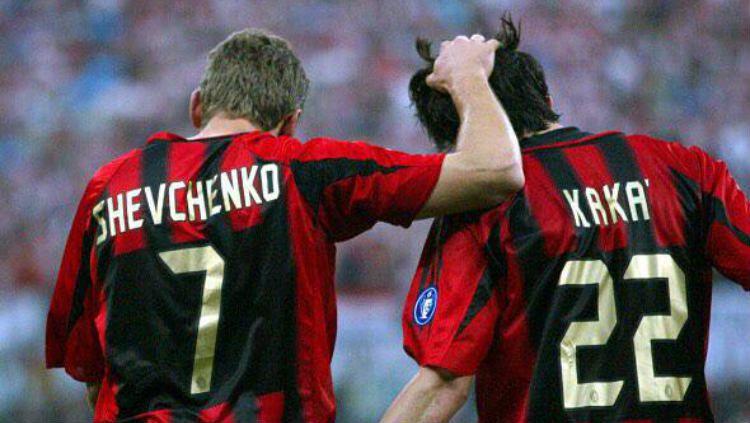 Kaka dan Sheva di AC Milan Copyright: © https://twitter.com/Ciardale/status/649249633374466048