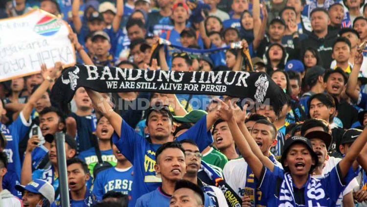 Kapten tim Persib Bandung, Supardi Nasir mengajak rekan-rekannya bekerja keras pada laga kandang Shopee Liga 1 2019 menghadapi Arema FC demi Bobotoh. Copyright: © Ronald Seger Prabowo/INDOSPORT