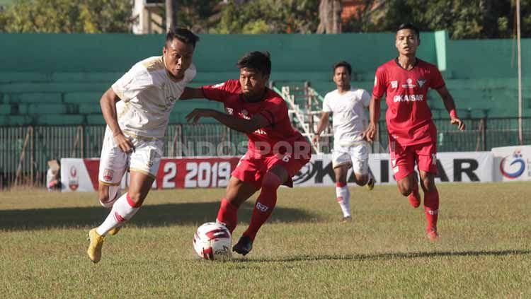 Situasi pertandingan Persis Solo vs Madura FC di Stadion Ahmad Yani, Sumenep, Sabtu (20/7/19). Copyright: © Ronald Seger Prabowo/INDSPORT