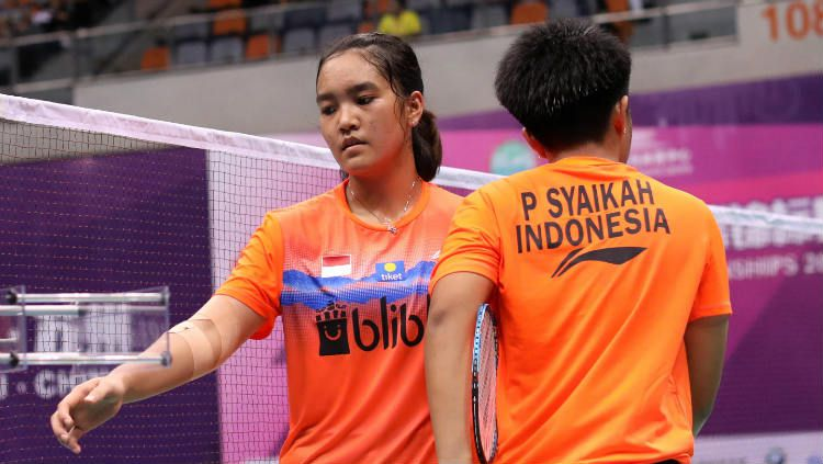 Nita Violina Marwah/Putri Syaikah di Badminton Asia Junior Championships 2019. Copyright: © Badminton Indonesia
