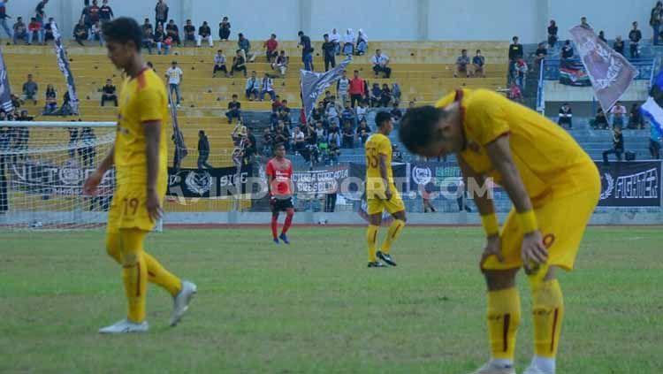 PSPS Pekanbaru secara mengejutkan berhasil menekuk Sriwijaya FC 2-1 di Stadion Kaharuddin Nasution, Selasa (23/7/19). Foto: Muhammad Effendi/INDOSPORT Copyright: © Muhammad Effendi/INDOSPORT