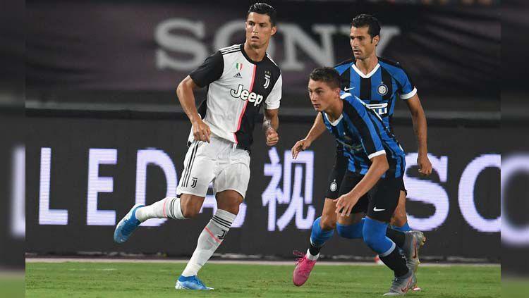 Aksi Cristiano Ronaldo pada laga Juventus vs Inter Milan di International Champions Cup (ICC) 2019, Rabu (24/07/19). Copyright: © Twitter/@Inter_en