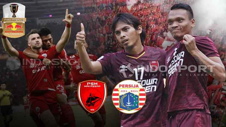 PSM Makassar vs Persija Jakarta di final Piala Indonesia 2018/19. Copyright: © Grafis: Eli Suhaeli/INDOSPORT