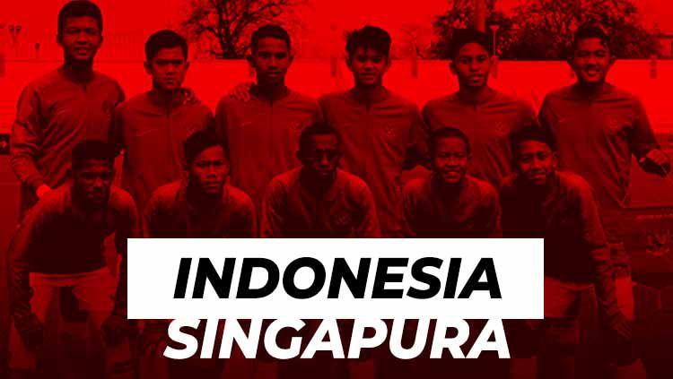 Hasil pertandingan Timnas Indonesia vs Singapura U-15 di Piala AFF U-15 2019. Copyright: © Grafis: Eli Suhaeli/INDOSPORT/officialpssi