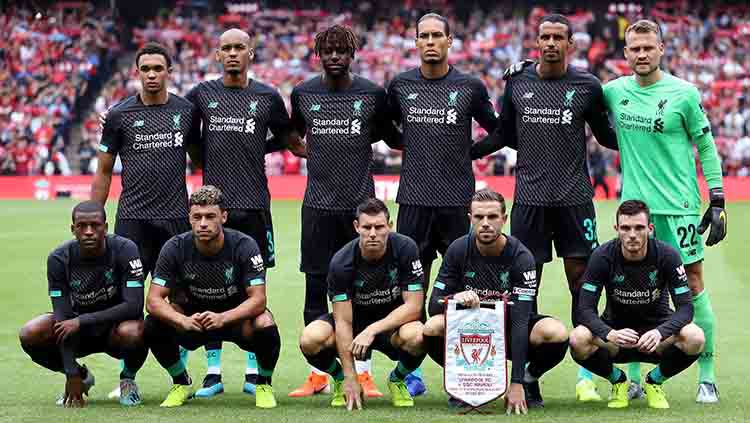 Skuat Liverpool pada laga persahabatan melawan Napoli di Murrayfield (28/07/19). Ian MacNicol/Getty Images Copyright: © Ian MacNicol/Getty Images