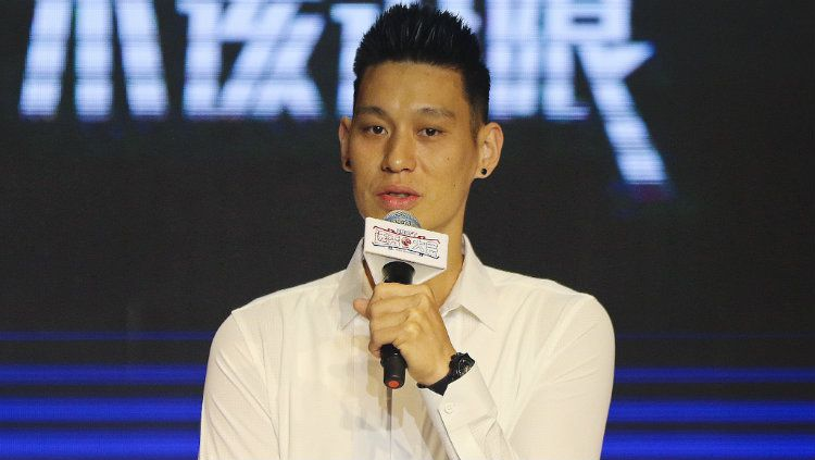 Pemain Toronto Raptors, Jeremy Lin, dalam acara di Shanghai, China. Copyright: © VCG/VCG via Getty Images