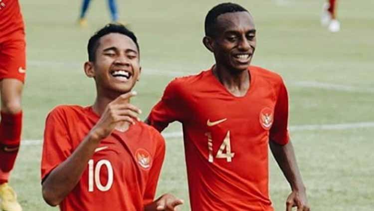 Selebrasi pemain Timnas Indonesia U-15 di Piala AFF U-15 2019. Copyright: © officialpssi